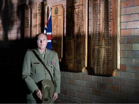 SOLDIER FOR LIFE: School teacher Mark Murray has been in the ADF Reserves for almost 40 years. He will march at the Lismore Anzac Day services again this year.