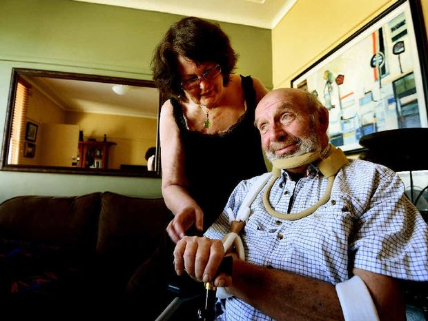 A STRONG LOVE: Peter and Christine Castrikum, of East Lismore, want to raise awareness about motor neurone disease.