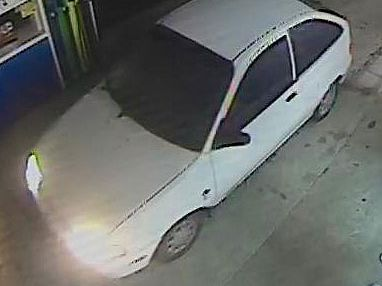 At about 1.15am a stolen white hatchback reversed into a convenience store in Cunungra smashing the windows.