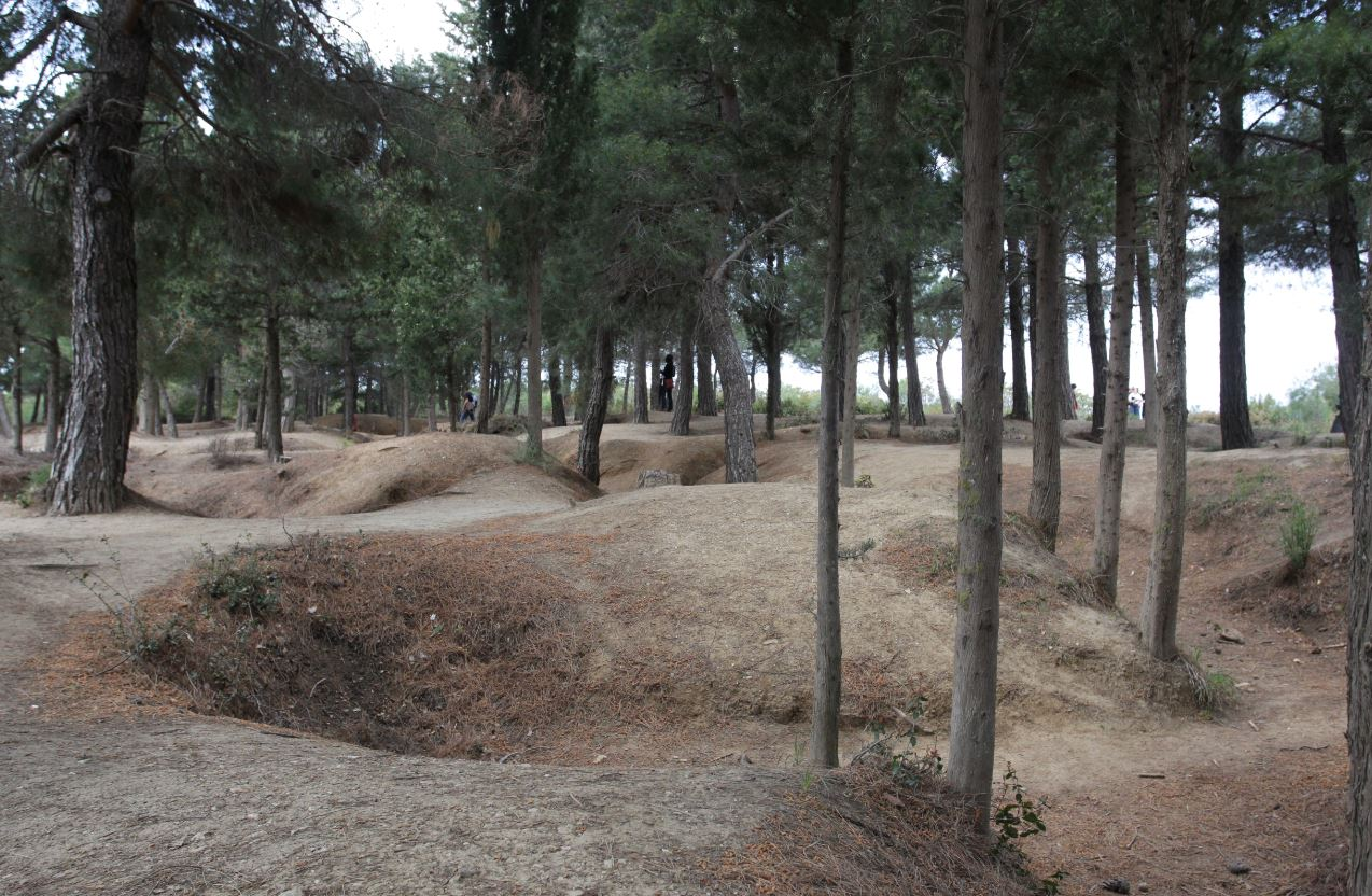 The remnants of First World War trenches in Turkey