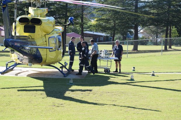 RACQ's CareFlight helicopter has airlifted a man to Brisbane following a bad crash at Glen Aplin this morning.