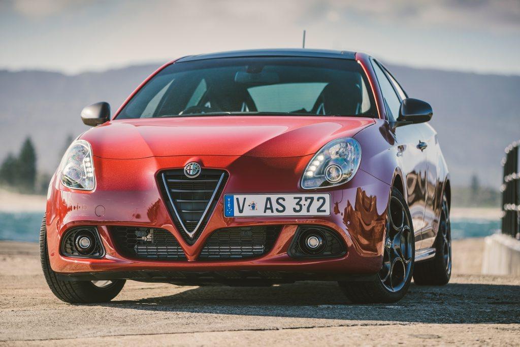 The Alfa Romeo Giulietta Quadrifoglio Verde.