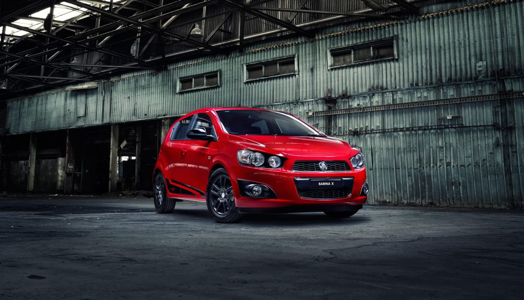 The Holden Barina X.