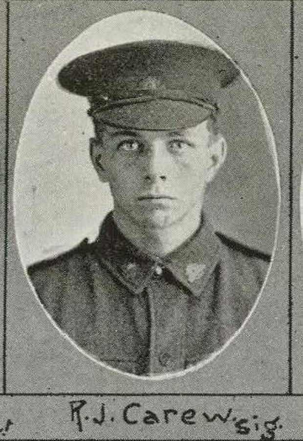 Lieutenant Robert James Carew. Contributed