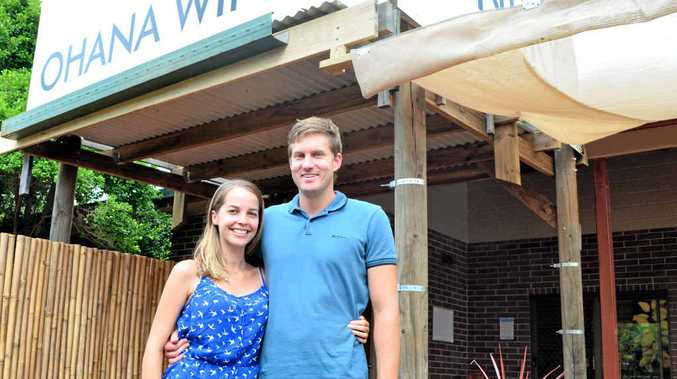 NEW VENTURE: Ohana Winery owners Josh Phillips and Zoe Young. The couple's short-term goal is to focus on the unique wines and tropical liqueurs.