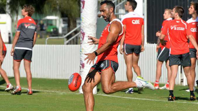 AFL player Adam Goodes will return to training this week.