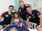Brisbane Lions AFL players Lewis Taylor, Jogh Green and Dayne Zorko paid a visit to Ipswich Hospital on Friday to try and put a smile on the face of some of the kids in the Children's Ward.