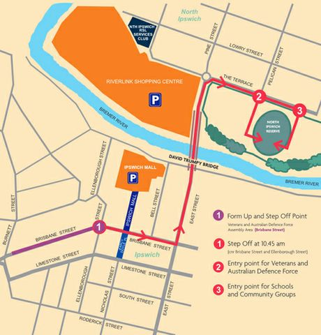 Full list of road closures for Ipswichs Anzac Centenary