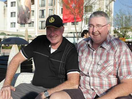 Brothers Mark and Robert Lund have bonded during their trip to the Gallipoli peninsula.