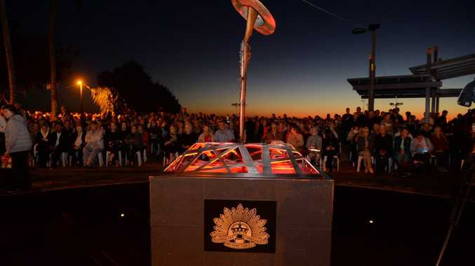DAWN SERVICE: The new Military Memorial on the Bargara Foreshore. Photo: Mike Knott / NewsMail