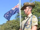 CATAFALQUE PARTY: LCpl Michael Peterson at the Bundaberg Anzac Day Civic Service. Photo: Paul Donaldson / NewsMail
