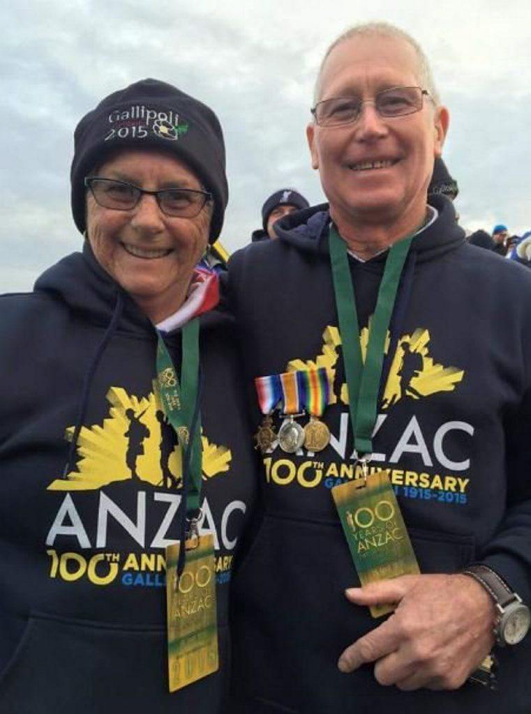 Margaret and Roy Henderson of Boyne Island in Gallipoli on Anzac Day 2015.