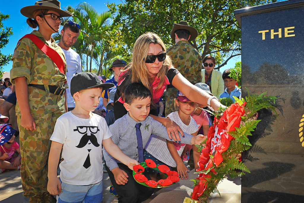 Anzac Day 2015: Agnes Water/1770 March and Service, April 25, 2015. Photo Mike Richards / The Observer