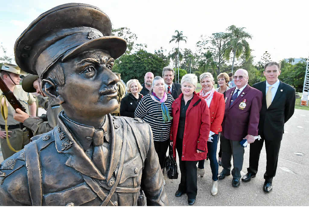 TOP EFFORT: The Duncan Chapman memorial fundraising committee at yesterday's unveiling.