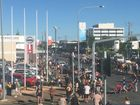 People have lined Gordon St ready for the main Anzac Day parade.