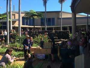 Anzac Day: Childers' dove release