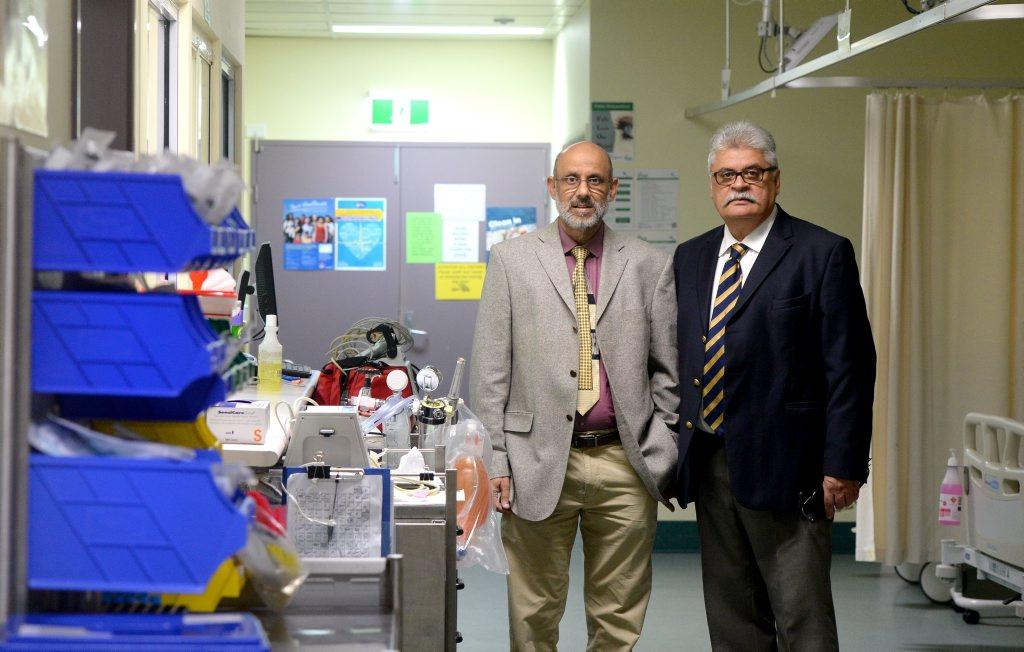 Director of Medicine Dr Ibraham Abdool and Cardiologist Dr Ajay Gandhi at Tweed Hospital. Photo: Blainey Woodham / Tweed Daily News