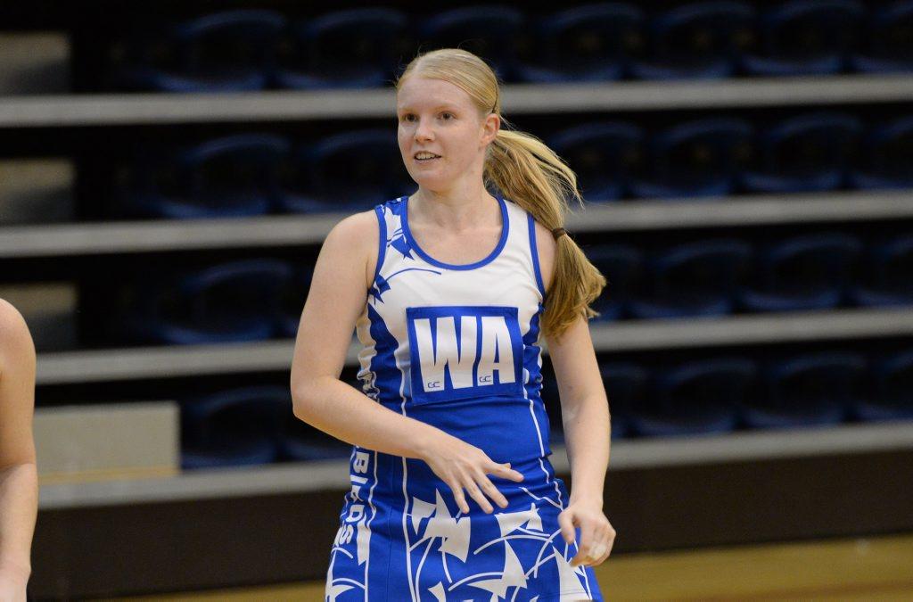 Bluebirds player Brie Hamer - netball game at CQ University. Photo: Chris Ison / The Morning Bulletin