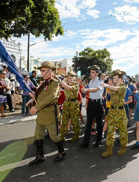 The young and old marched togther in Lismore.