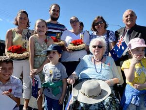 Four generations of one family join Ballina's Anzac march