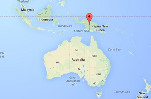 Map showing the proximity of West Papua to Australia. Photo: Google Maps