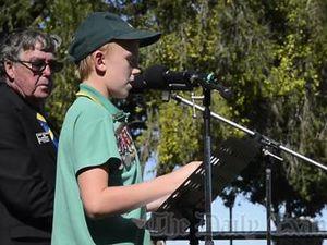 Anzac Day Speech - Myles Hartmann Westlawn Public
