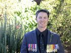 ON DISPLAY: Former Royal Australian Air Force corporal Troy McIndoe at the Ulmarra Anzac Day commemoration