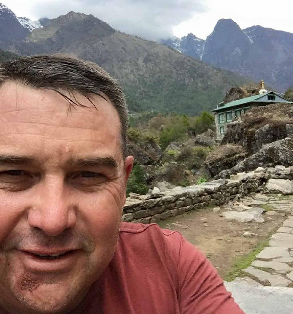 Steve Askew takes a Selfie in the Himalayas