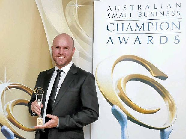 THRILLED: John Pearson accepted the 2015 Australian Small Business Champion Award for the indigenous business category on behalf of his firm.