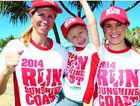 JOIN THE FUN: Sharon and Abbey Linfoot, with Jessie Neumann (right), are ready for the 2015 Run Sunshine Coast event, raising money for the Child Development Service on the Sunshine Coast.