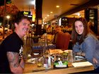 Mitch Russell and Rachel Ryan enjoy a night out on Ocean St.