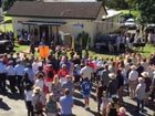About 400 people gathered for Bangalow's 2015 Anzac Day ceremony at the RSL hall at Station Street.