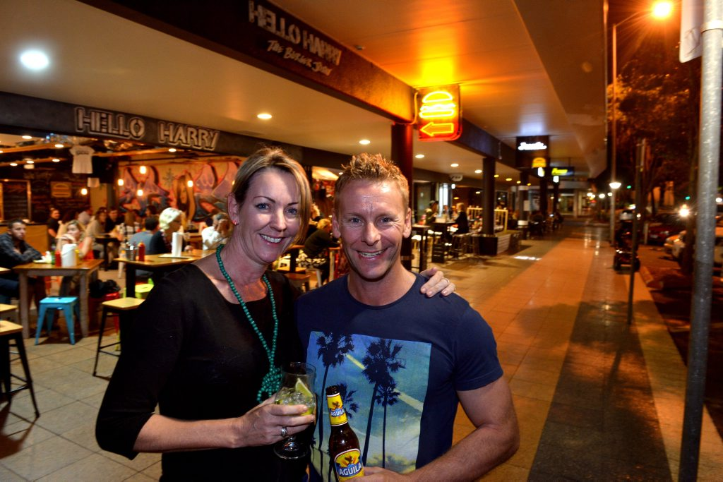 Ocean Street Maroochydore night life. Roisin (CRCT) Reid and Terry Reid. Photo: John McCutcheon / Sunshine Coast Daily