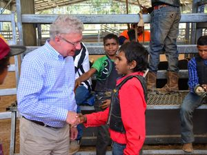 Governor Paul de Jersey visits the Barambah Rodeo Academy