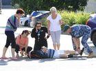 Bike rider injured in crash with car