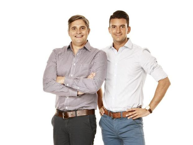 My Kitchen Rules finalists Will and Steve.