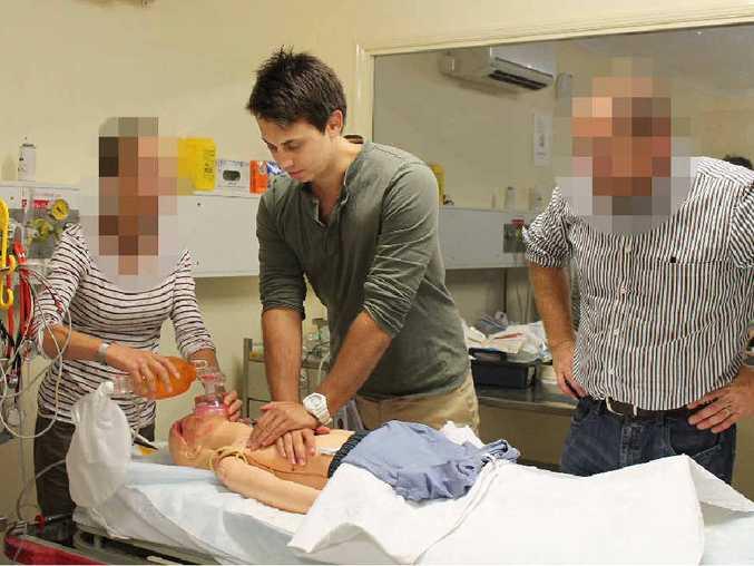 Dr Tareq Kamleh undergoing training at Mackay Base Hospital