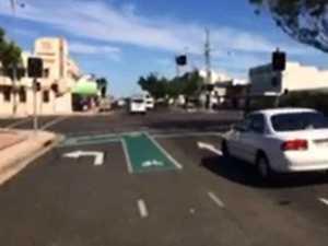 VIDEO: Traffic lights broken at Bourbong and Maryborough