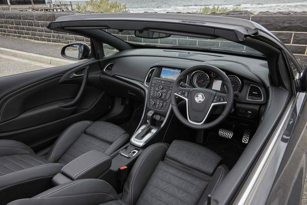 Inside the Holden Cascada.