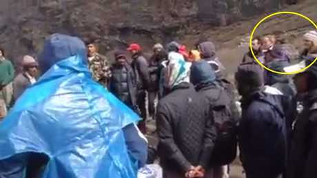 A screenshot from the video, posted on a Facebook page, shows two women who family say they recognise as Ngaire Seccombe and Athena Zelandonii in Langtang Valley following the Nepal earthquake. Photo Contributed