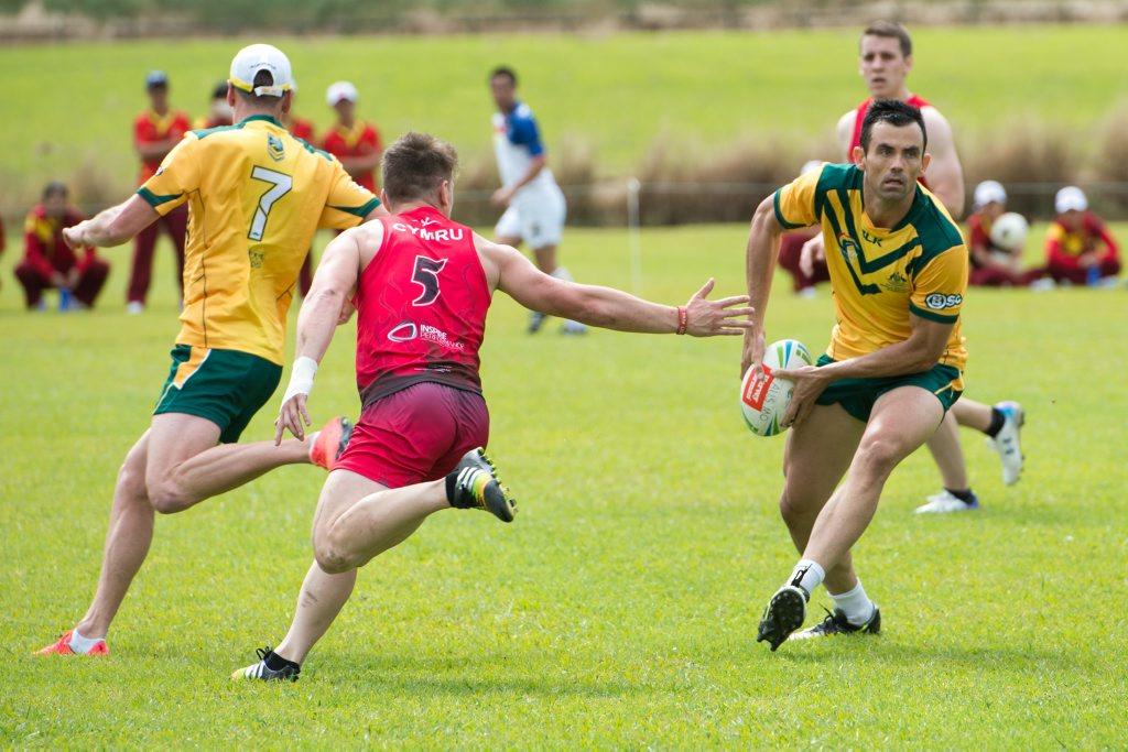 Fit Touch World Cup day one, leisure park Australia V Wales. 29 April 2015 Photo Trevor Veale / Coffs Coast Advocate