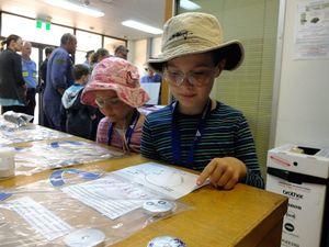 Families enjoy a tour of Boyne Smelters