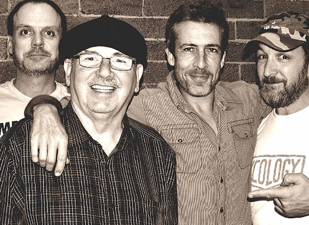 "ICONIC: Buzz & the Blues Band's Peter Robertson, Robert ""Buzz"" Oxford, Mojo Webb and Jason Chandler."