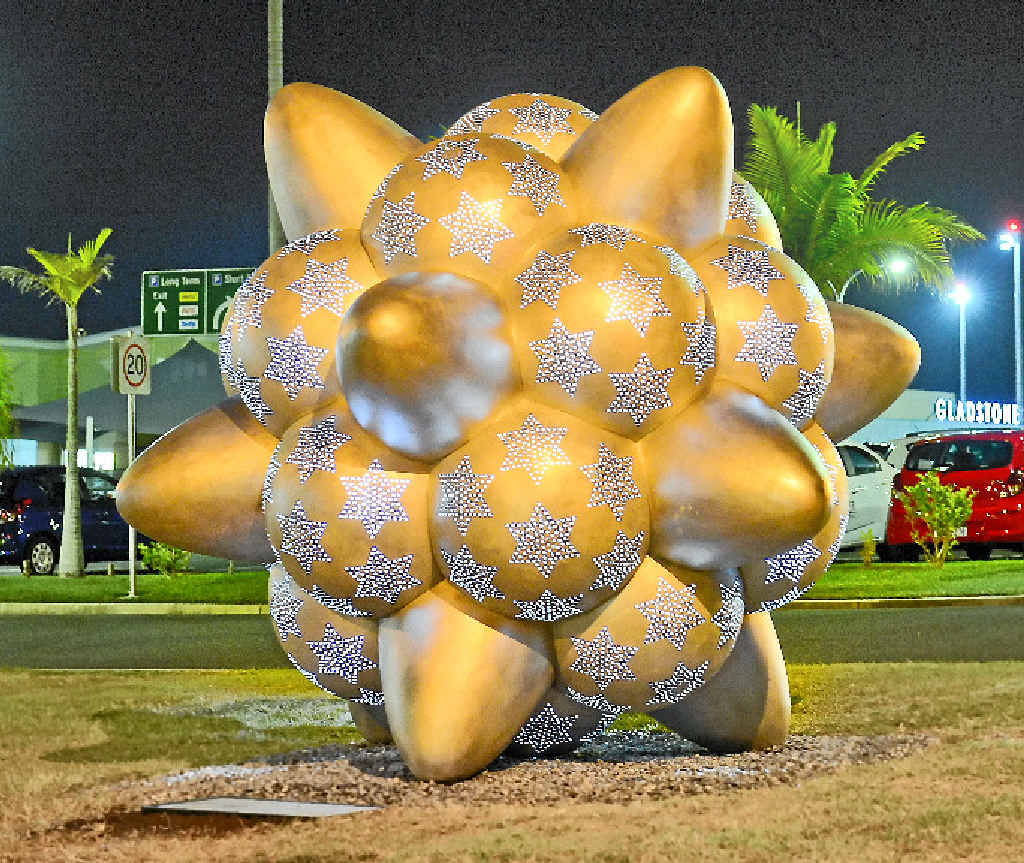 STAR WORK: Propel, a three-metre sculpture has been installed at Gladstone Airport. The work was created by Donna Marcus