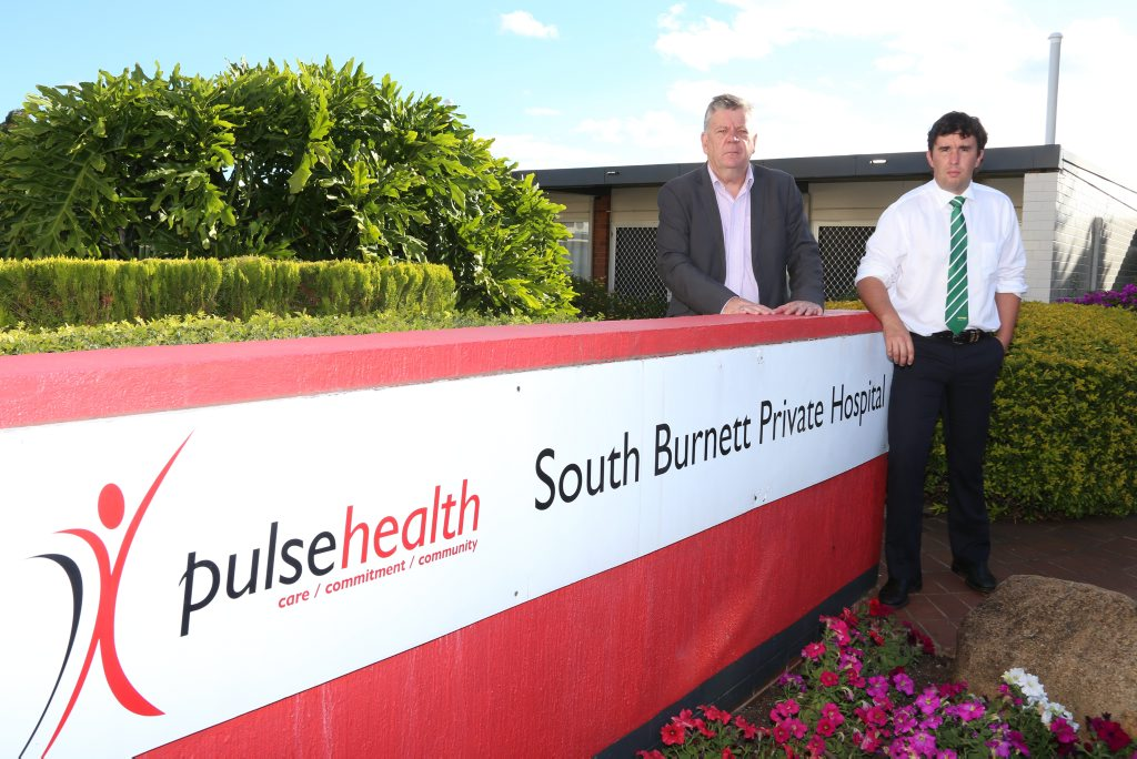 DESPERATE DASH: Mayor Wayne Kratzmann and Councillor Damien Tessmann will fly to Sydney next week to lobby Pulse Health to keep the South Burnett Private Hospital open.