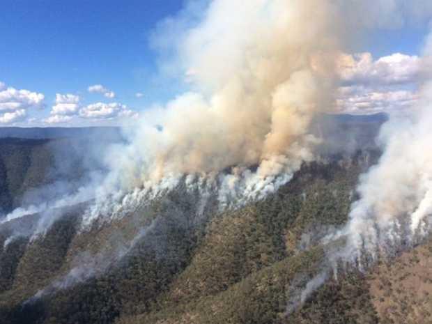 A hazard reduction burn at Guy Fawkes River National Park. Photo: NPWS