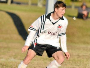NEW TEAM: Jordan Lampard during his time playing in the Football Far North Coast competition. Lampard has been selected in the Young Socceroos squad.