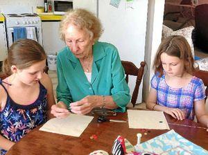 Granfriends help with craft skills