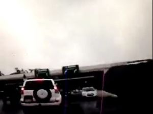 WATCH: Motorist drives wrong way down major Coast road