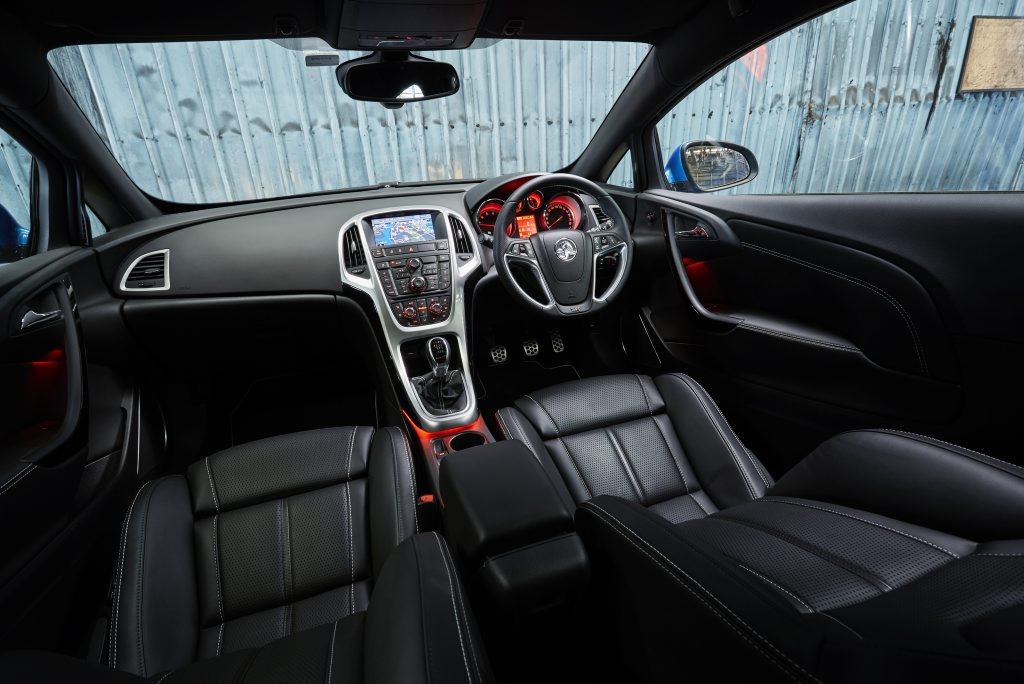 Inside the Holden Astra VXR.